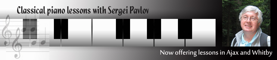 Classical piano lessons with Sergei Pavlov in Ajax and Whitby